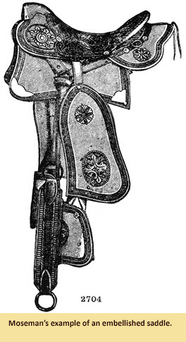 An illustration of an embellished saddle by Moseman.