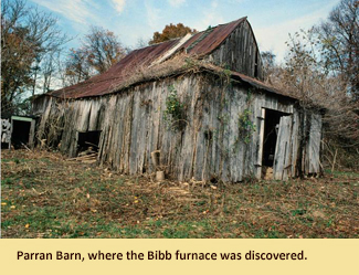 An image of Parran Barn where the Bibb flue was excavated.