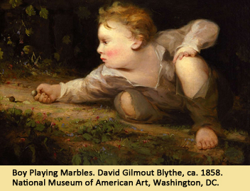 Boy Playing Marbles. David Gilmout Blythe, ca. 1858. National Museum of American Art, Washington, DC.