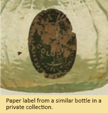 Paper label from a similar bottle in a private collection.