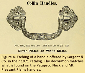 Figure 4. Etching of a handle offered by Sargent & Co. in their 1871 catalog. The decoration matches what is found on the Patapsco Neck and Mt. Pleasand Plains handles.